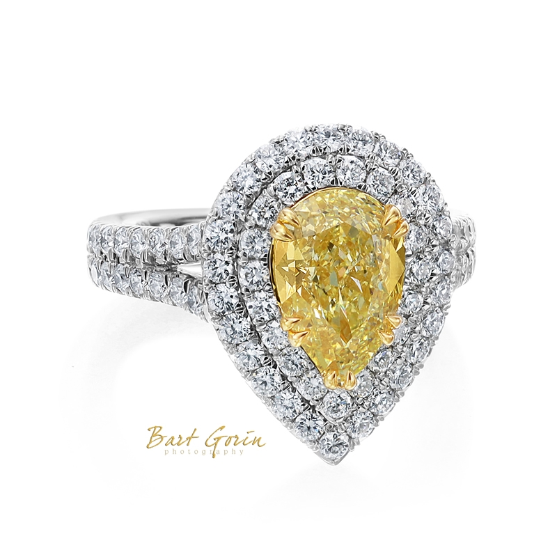 pear shaped yellow diamond